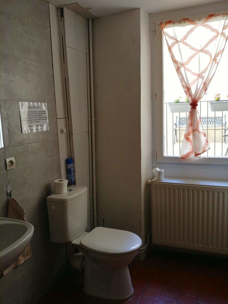 Gite Sault Ventoux WC chambre provençale