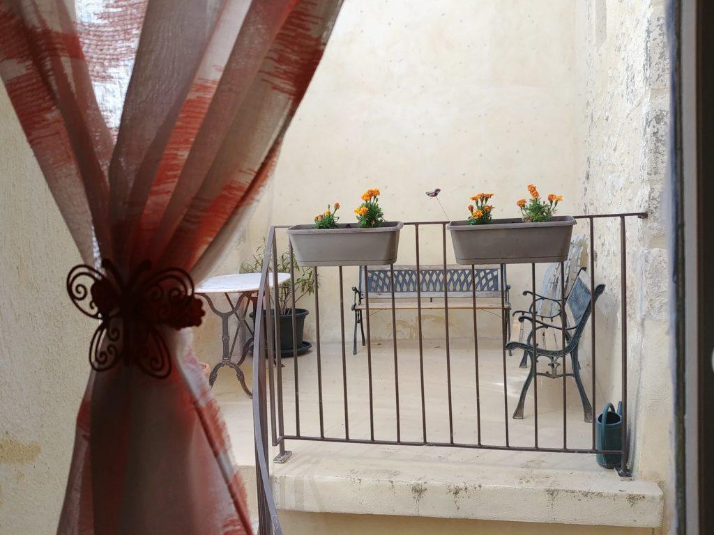 Gite Sault Ventoux Vue terrasse chambre provençale